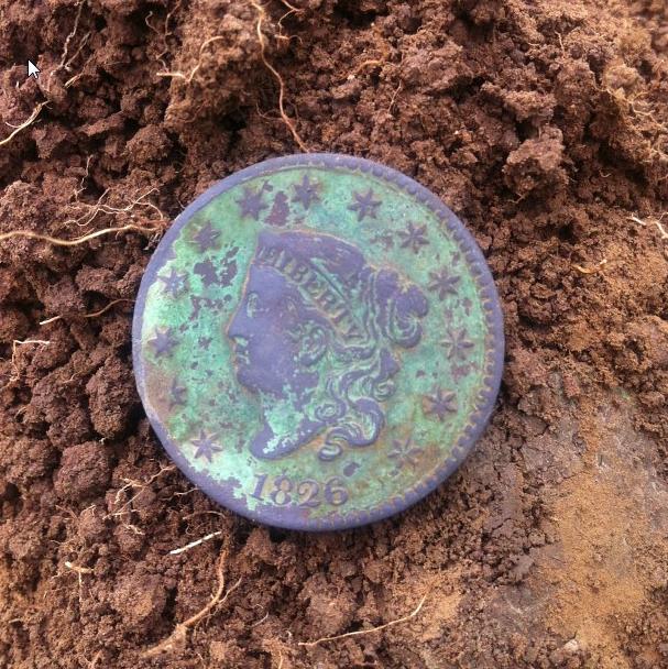 1826 Large Cent - As Dug
