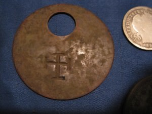 Knight's Templar Cross on Livestock Tag
