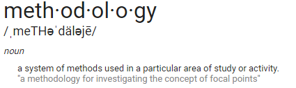 Definition of methodology