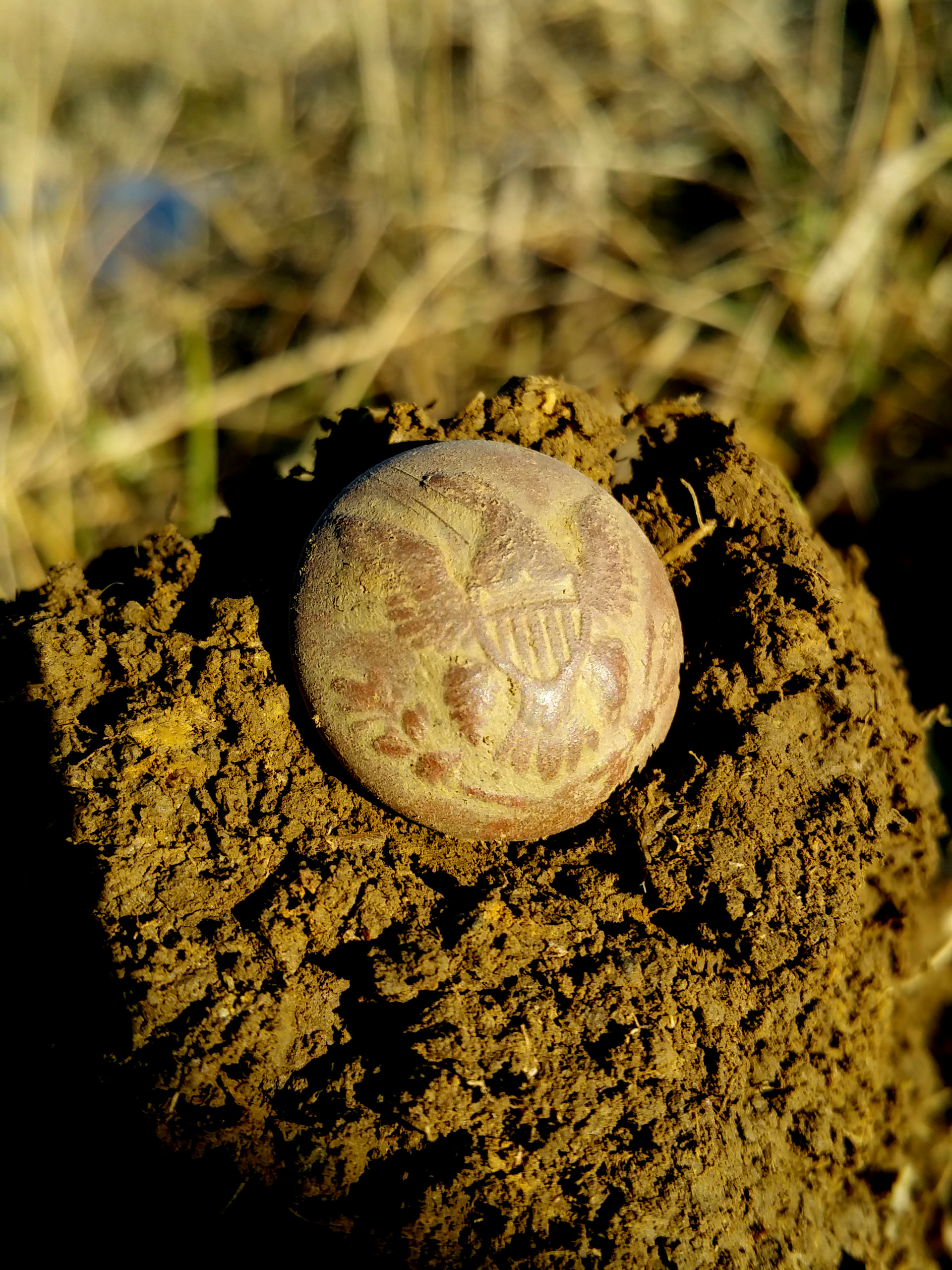 General Infantry Union Civil War Button As Dug - Kentucky