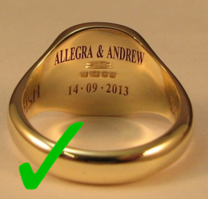 When Engraving Wedding Rings Class Rings Make it Googleable