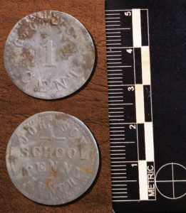Both sides of Johnson School Token