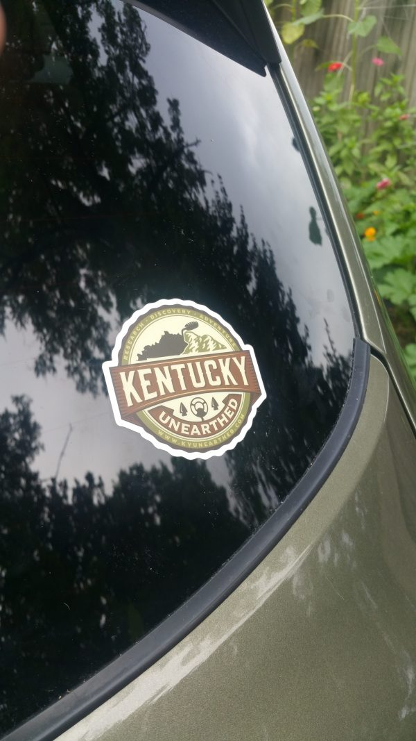ky unearthed sticker on car
